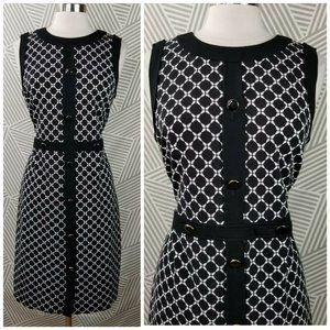 Talbots Dress size 12 Geometric Print Stretch Knit